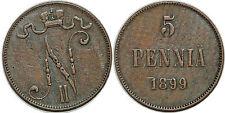 FINLANDE 5 PENNIA 1899  KM#15
