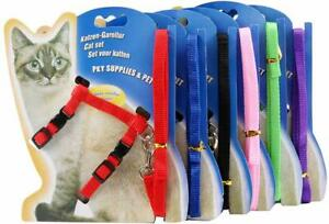 Adjustable Harness/leads/Collar For Animal Walking /Kitten/Ferrets/pets UK