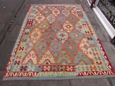 Vintage Kilim Traditional Hand Made Oriental Orange Wool Large Kilim 245x170cm