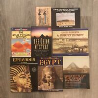 Egypt 7 Book Lot + Postcards Egyptian Mysticism