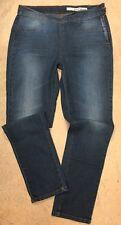 DKNY Slim Leg Jeans Size 10 Side Zip Faux Pockets Smooth Fit