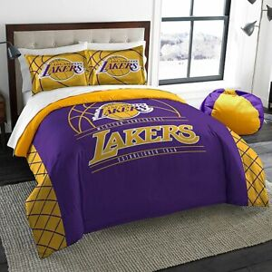 NEW Los Angeles Lakers NBA Basketball Twin Comforter & Pillow Sham 2-Pc Bed Set