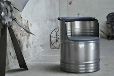 Fass Sessel Stuhl aus 200 Liter Fass Oelfass  Metallfass Industrie gebürstet