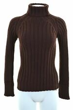 C.P. COMPANY Womens Roll Neck Jumper Sweater IT 42 Medium Maroon Wool  JV19
