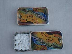 2/ Music Tins full of Peppermints MINTS Sugar-Free Great MUSIC Gift Brand NEW