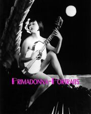ANNA MAY WONG 8X10 Lab Photo B&W 1920s SEXY STUNNING GUITAR with MOON PORTRAIT