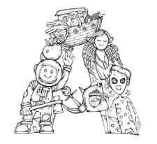 "Kelly O'Gorman - Children's Alphabet Fabric Panel - Mini Size 8"" x 8"" - A"