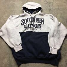 90s Vtg Southern Illinois Salukis Hoodie Sweatshirt Jansport Colorblock Xl Logo