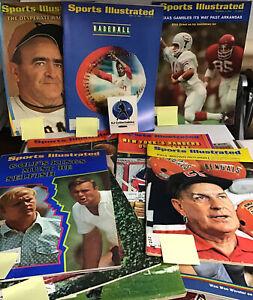 Vintage Lot Of 1969/70 Sports Illustrated Label On Lou Brock, Armold Palmer 14 M