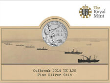 More details for 2014 £20 silver coin outbreak wwi 100 twenty pounds brilliantly uncirculated a