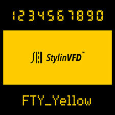 VFD Display Color Filter<Yellow>For vintage Calculator CASIO,OMRON,BRAUN & more~
