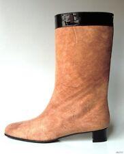 new DOLCE & GABBANA D&G dark BEIGE suede BOOTS 36.5 US 6.5 - very comfortable