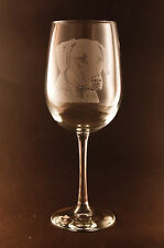 Etched Chesapeake Bay Retriever on White Wine Glasses - Set of 2