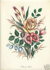 Edizioni Ponte Vecchio Florence Italy art print Prevost tea rose bouquet