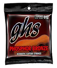 GHS Phosphor Bronze Acoustic Guitar Strings S325 12-54 light