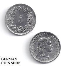 Schweiz 5 Rappen 1883 1885 1905 1909 1914 1917 1940 1941 1945 1949 Switzerland