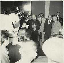 Cardinale Angelo dell'Acqua e F. ferrari  Vintage silver print Tirage arg