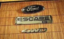 2008 Ford Escape XLT 4WD Emblems Factory OEM 2008 2009 2010 2011 set of 3 Nice