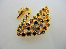 Signed Swarovski Crystal Tie Tack Pin Centenary 22kt Gold Plated
