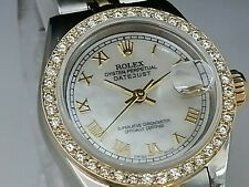 14k custom made bezel for Rolex ladies 26mm Rose gold 1.00ct diamonds Beautiful.