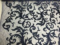 Gold Flaming Leaf Design-embroider On A Mesh Lace Fabric-nightgown-prom-bridal