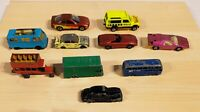 Lesney Matchbox Bundle Job Lot of 10 Vehicles Diecast Vintage Mixed