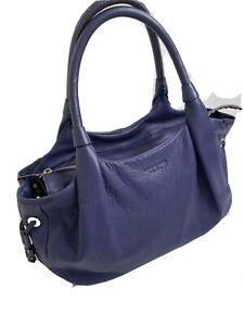Kate Spade Purple Pebbled Leather shoulder handbag purse