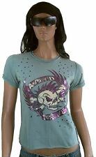 Amplified punk AS F ** K SKULL ViP Rock Star Vintage Destroyed buchi T-SHIRT M 38