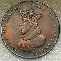 1792 United Kingdom (Lincolnshire) Copper 1/2 Penny  Token, as good as it gets.