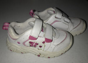 Stride Rite Size 8 Toddler Girls Sneakers White with Pink Accents