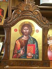 Jesus Christ Handmade Greek orthodox Russian byzantine icon