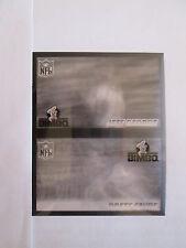 1996 Pinnacle Bimbo Brd  DOUBLE TEST PROOF Brett Favre - J.George (White Letter)