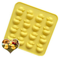 Cute Duck Silicone Mold DIY Chocolate Ice Biscuit Candy Moulds E&FCVG