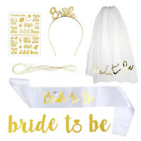 5Pcs/Set Bride To Be Sash Kit Bachelorette Hen Night Party Bridal Shower Decor