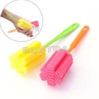 2X esponja limpiador largo mango cepillo Copa botella de est*ws