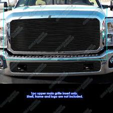Fits 2011-2016 Ford F250/F350 Super Duty Black Billet Grille Insert