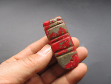 Ancient Chinese,Hongshan Culture,Red Turquoise,Jade,cicada,pendant Y6071