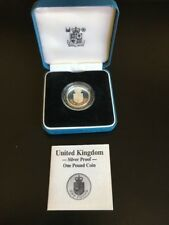 1988 Silver Proof £1 coin in case with COA