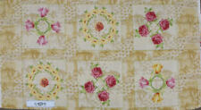 Quilting Patchwork Sewing Fabric Panel ROSES FLOWER VINTAGE Material 60x110cm...