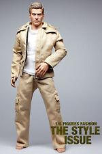 mc0271 Khaki White Fashion Set (Jacket Vest Pants Belt) for 1/6 Action Figure