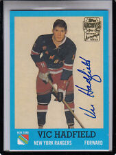 """2001-02 TOPPS OPC ARCHIVES VIC HADFIELD """"N.Y.RANGERS/G.A.G.LINE"""" AUTOGRAPH AUTO"""