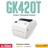 Zebra GC420T Direct Thermal Barcode Label Printer 100mm - TESTED - NO CORDS