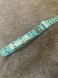 Blue Green Turquoise Women's Bench Fabric Belt 46in long Fully Adjustable Buckle