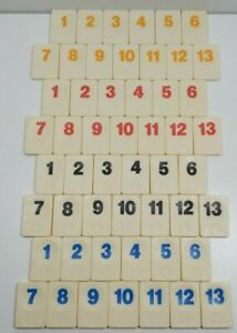 The Original Rummikub 1988 Spare Tiles Stands Rules