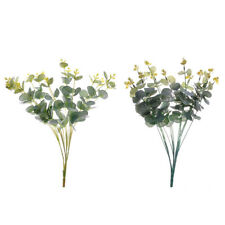 1pc Artificial Fake Leaf Eucalyptus Green Leaves Plant Office Indoor Decoration
