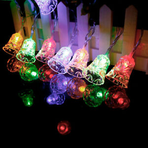 LED Decorative String Light Bell Shaped Garland For Christmas Lights Outdoor Wed