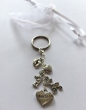Mum to be gift Keyring  charm - Baby Shower  Pregnancy Boy Girl favour