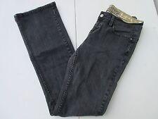 Women's Dereon jeans sz 7/8  33 long tall black wash boot leg stretch mid rise