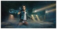 Star Wars Han Solo Brian Rood Poster Lithograph Print Art NUM #/395 + COA