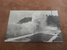 Early Queen series postcard -Storm record wave - Scarborough Yorkshire
